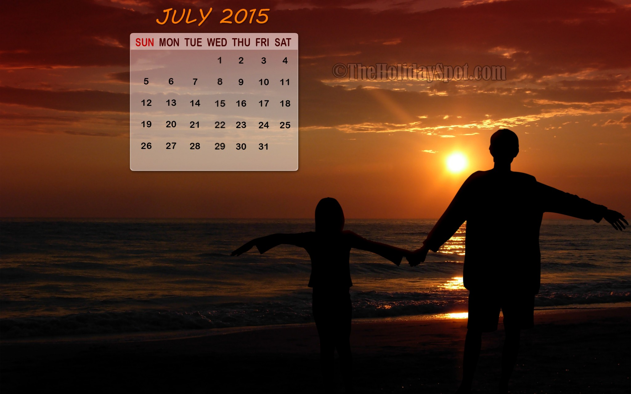 Calendar Wallpaper July 2014 2048x1280