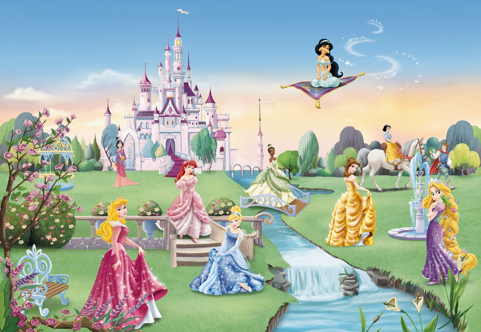 Details about PRINCESS CASTLE Wall Mural photo Wallpaper for children 1565x1080