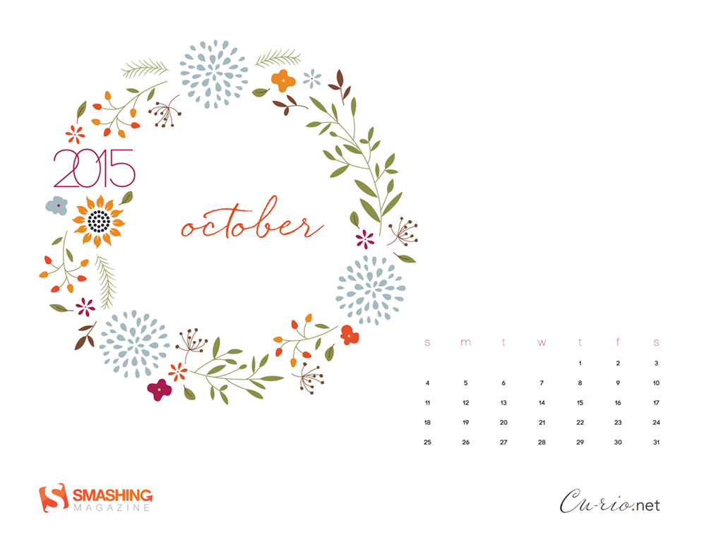 Desktop Wallpaper Calendars October 2015 Smashing Magazine 1024x768