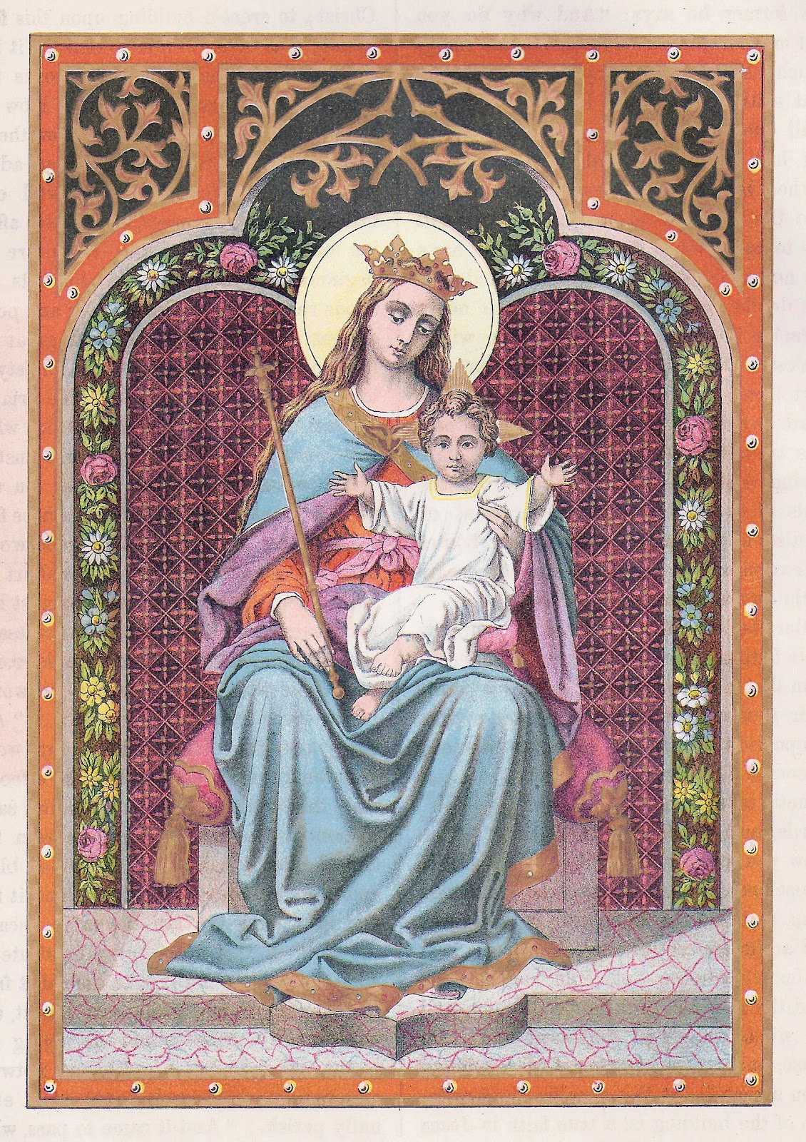 Religious Clip Art 2 Vintage Illustrations from Catholic Bible Mary 1130x1600