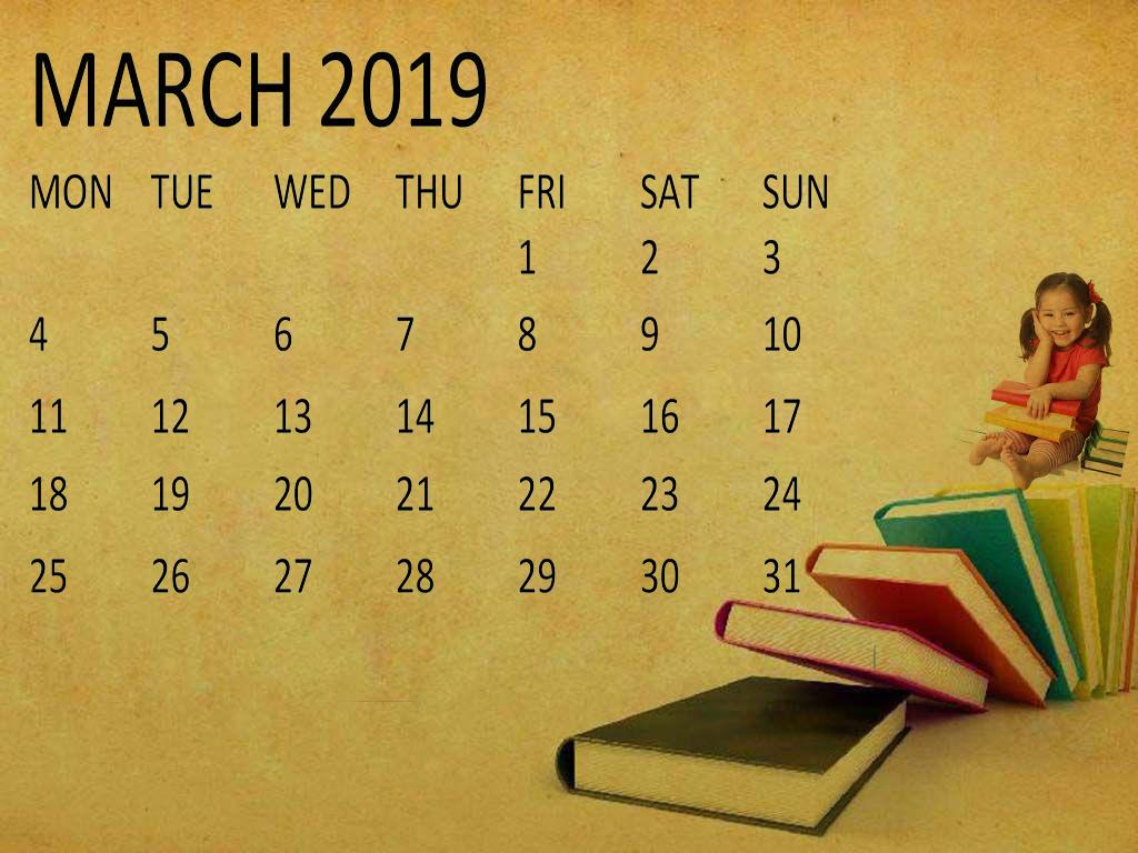 March 2019 Calendar Wallpaper   Printable Calendar Templates Blank 1024x768