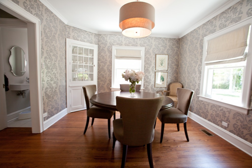 Dining Room Designs with Damask WallPaper Patterns   Interior Design 1024x682