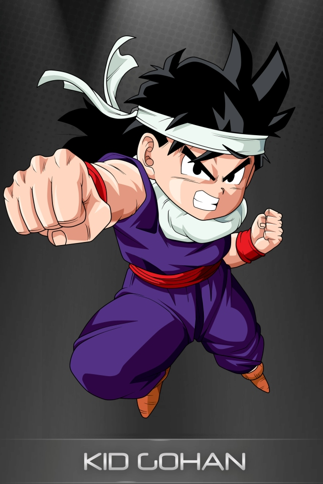 DRAGON BALL Z WALLPAPERS Kid Gohan 640x960