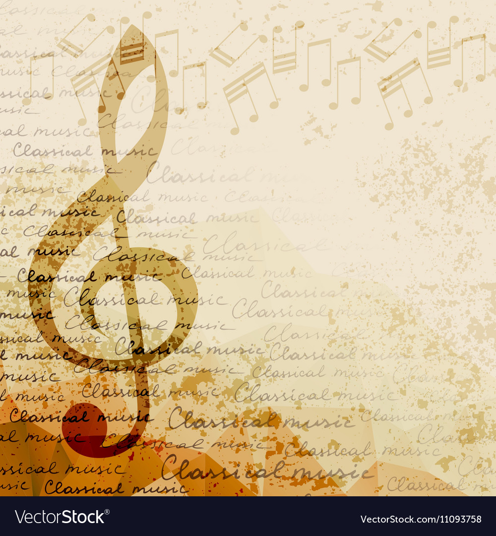 Classical music background Royalty Vector Image 1000x1080