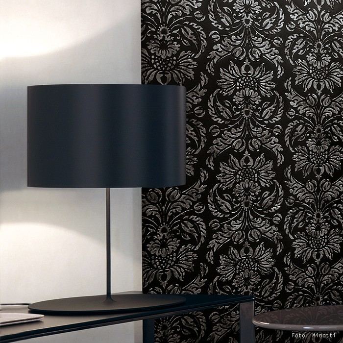 Wallface 14800 Imperial Design Sheet Vintage Baroque Damask Black Grey 700x700