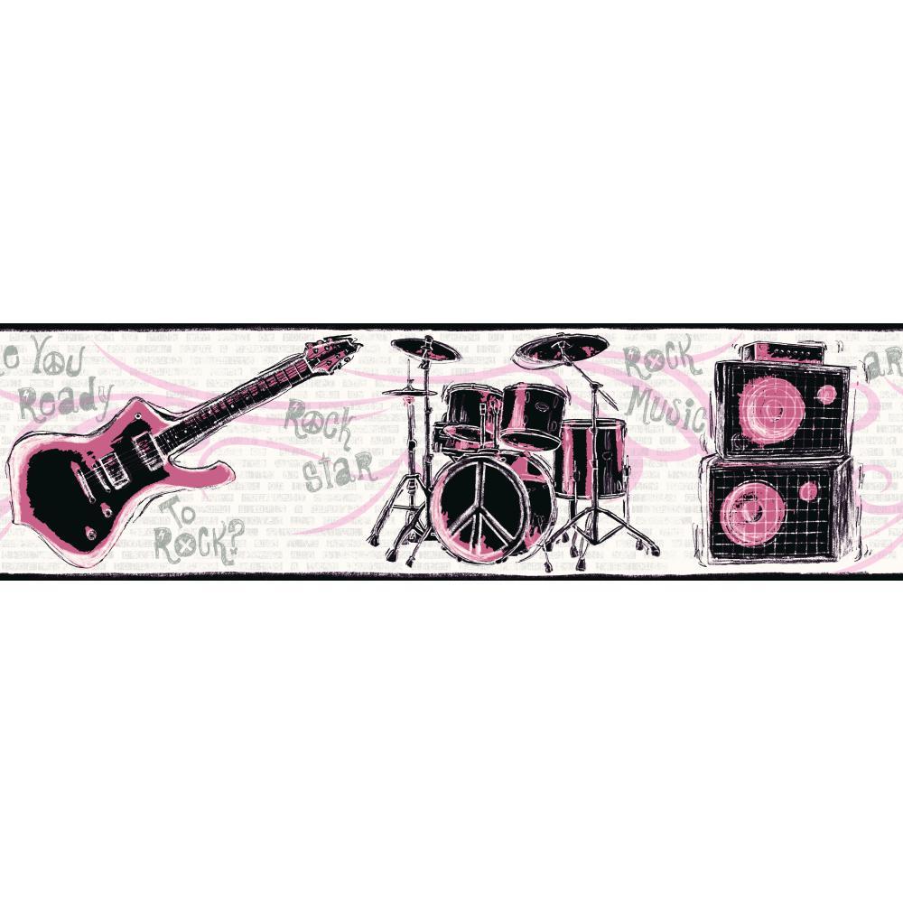 Forever Rock N Roll Border   Wallpaper Border Wallpaper inccom 1000x1000