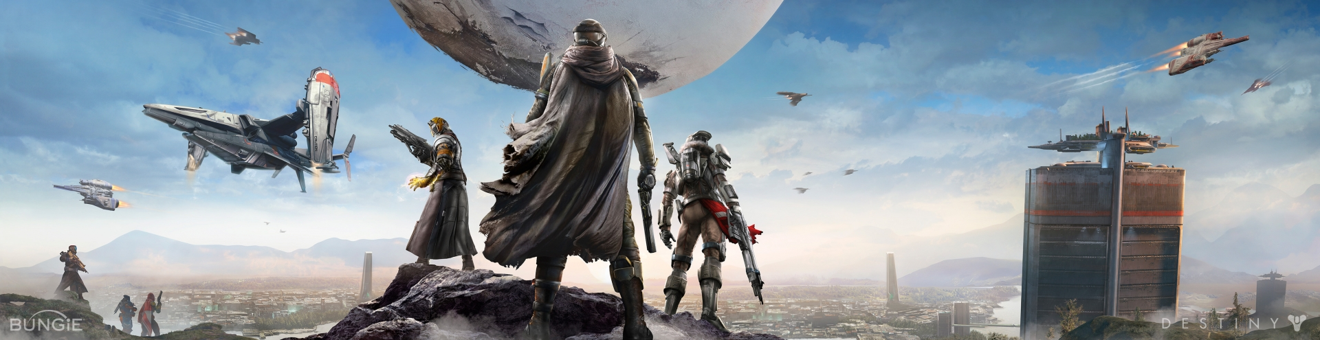 Bungie Reveals Breathtaking HD panoramic Wallpapers for Destiny PS4 1920x495