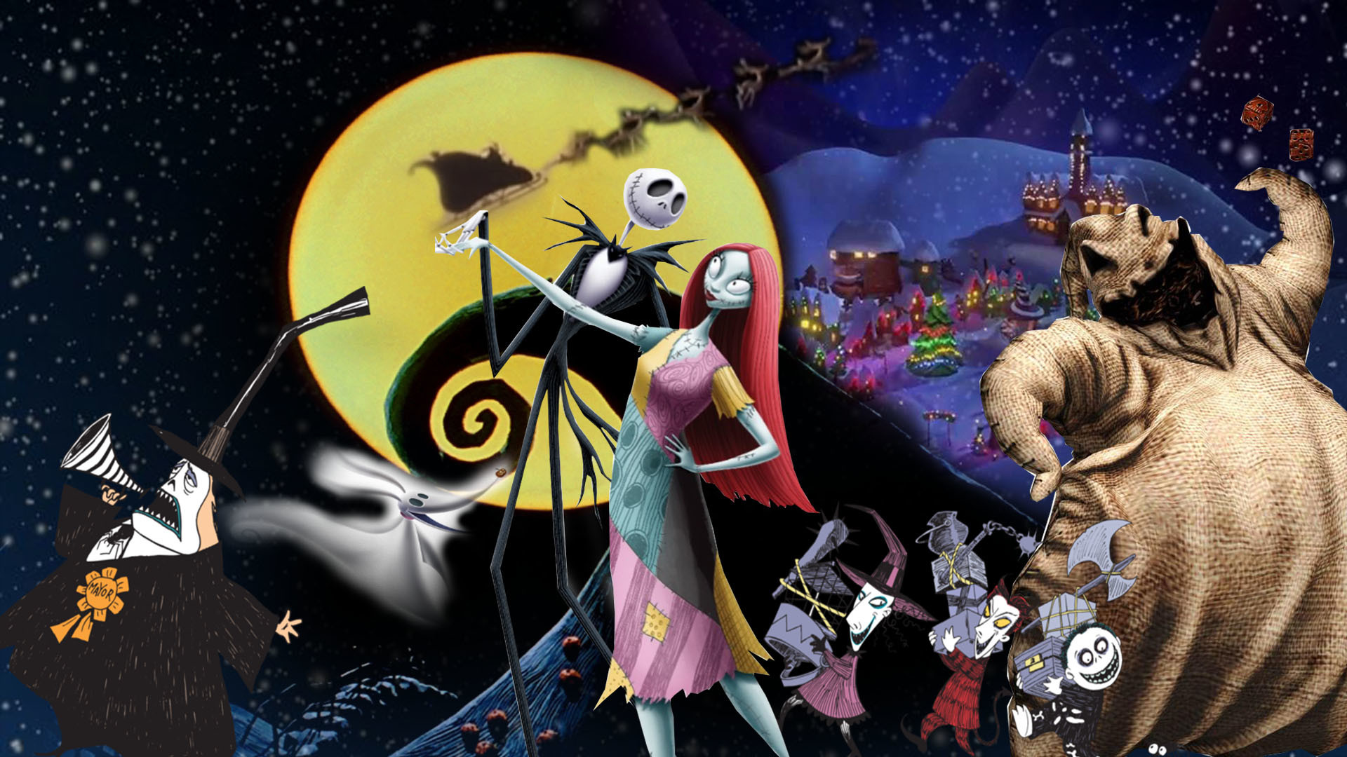 Nightmare Before Christmas Backgrounds 61 pictures 1920x1080