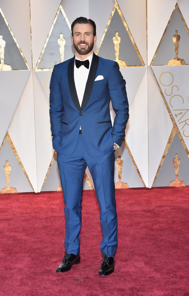 Chris Evans Oscar 2017 Red Carpet Arrival Oscars Red 655x1024