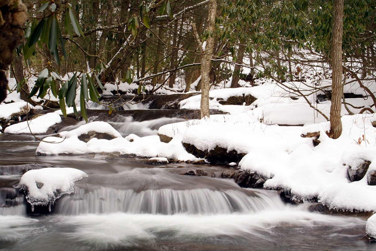 Snowy Winter Waterfall wallpaper   ForWallpapercom 1209x806