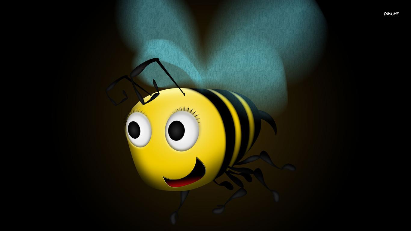 Flying honey bee wallpaper   Digital Art wallpapers   528 1366x768