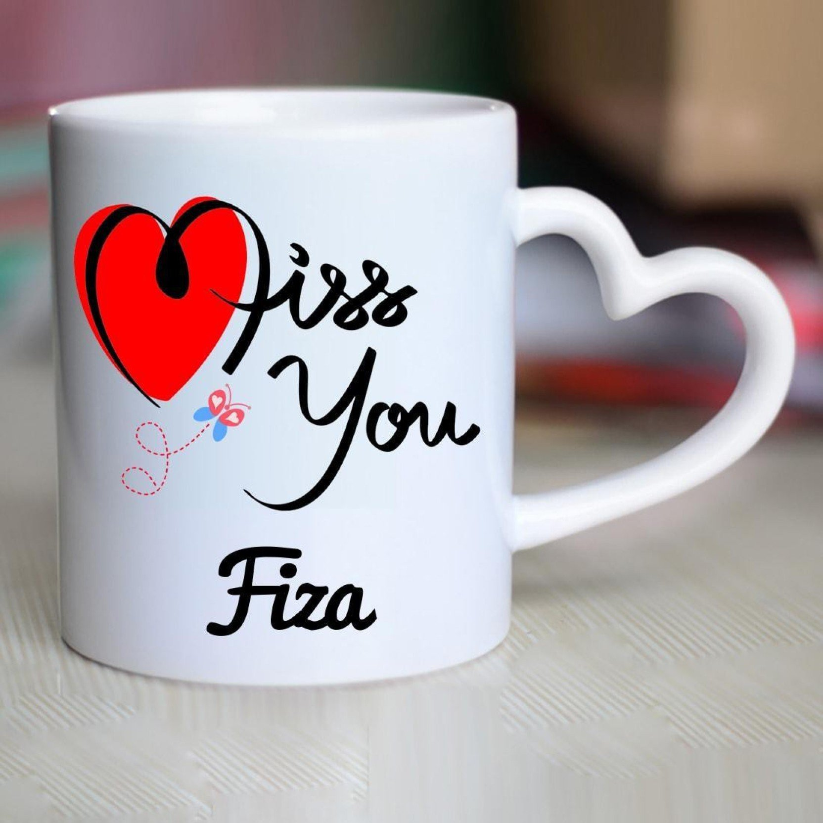 Chanakya I Miss You Fiza Heart Handle mug Ceramic Mug Price in 1664x1664
