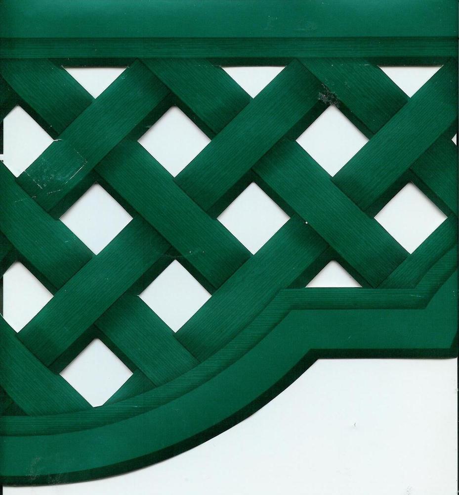 Country Lattice Look Green Sculptured Wallpaper Border eBay 929x1000