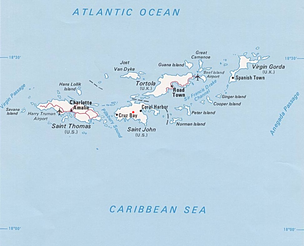 Free download st thomas virgin islands map [973x786] for ...
