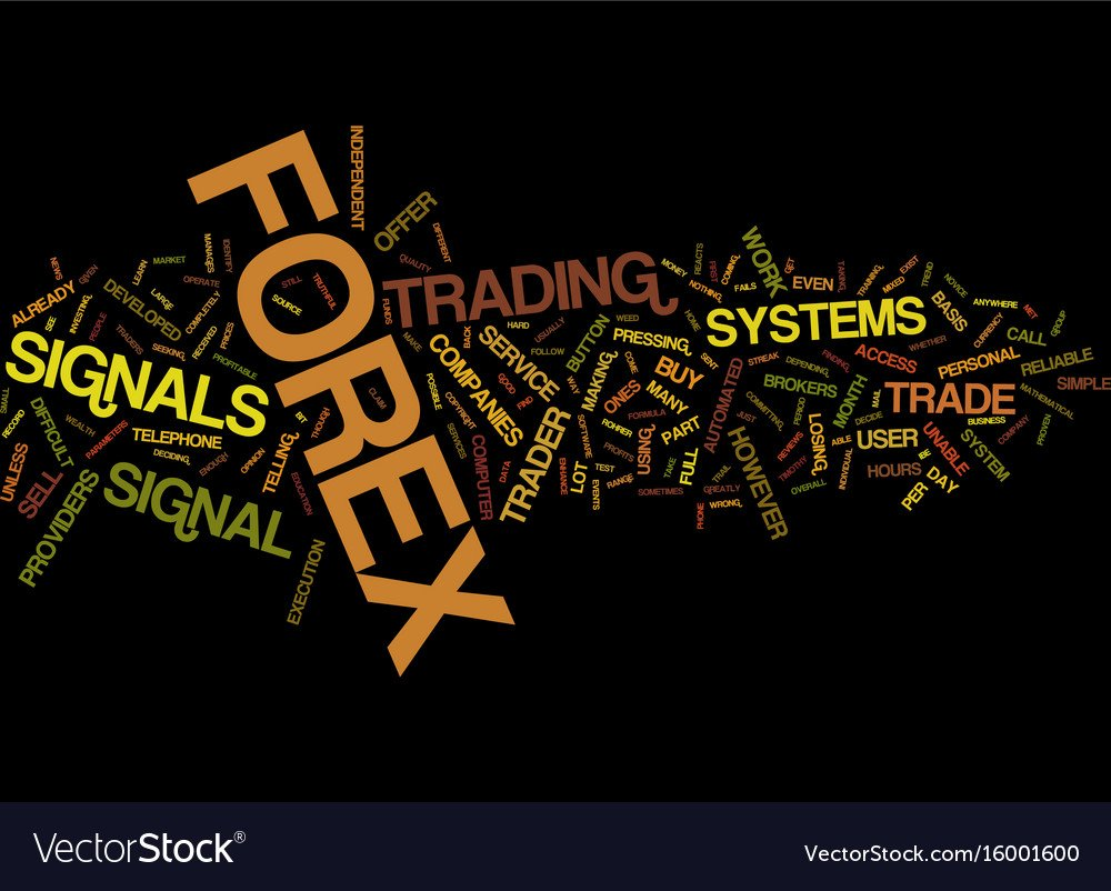 Automated wealth forex signals text background Vector Image 1000x802