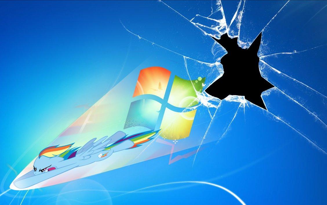 Rainbow Dash cracked screen Wallpapers Pinterest 1129x708