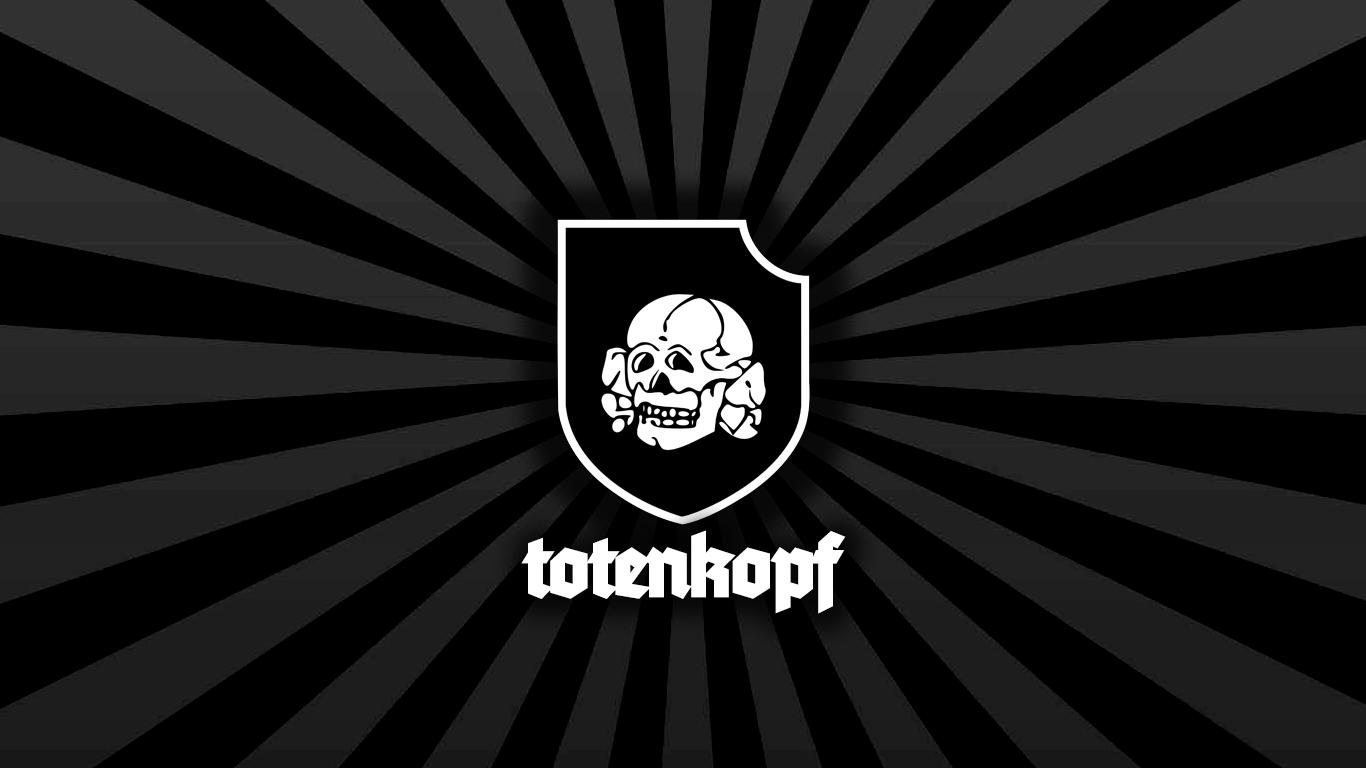 Wallpaper Waffen SS Totenkopf Division 1366x768
