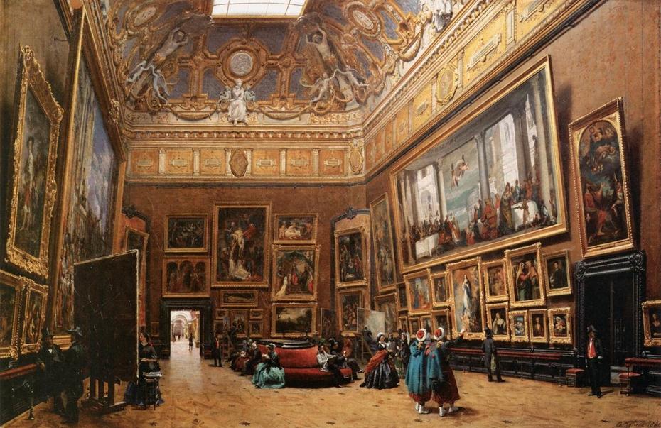 View of the Salon Carr in the Louvre Giuseppe Castiglione 930x603