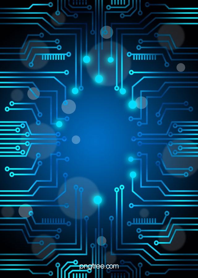 Vector Blue Technology Background Circuit Diagram Blue Geometry 640x897
