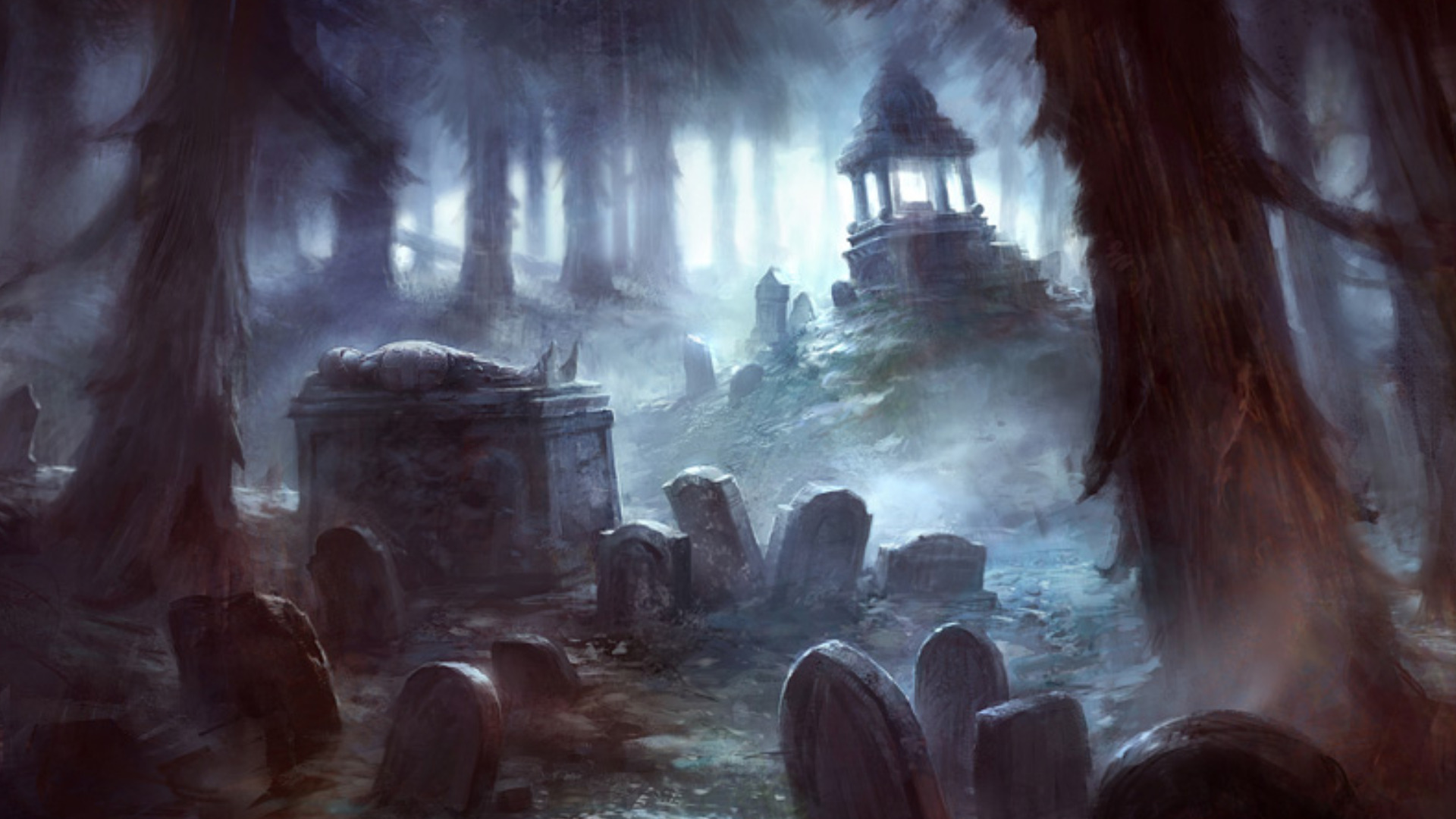 spooky graveyard wallpaper wallpapersafari