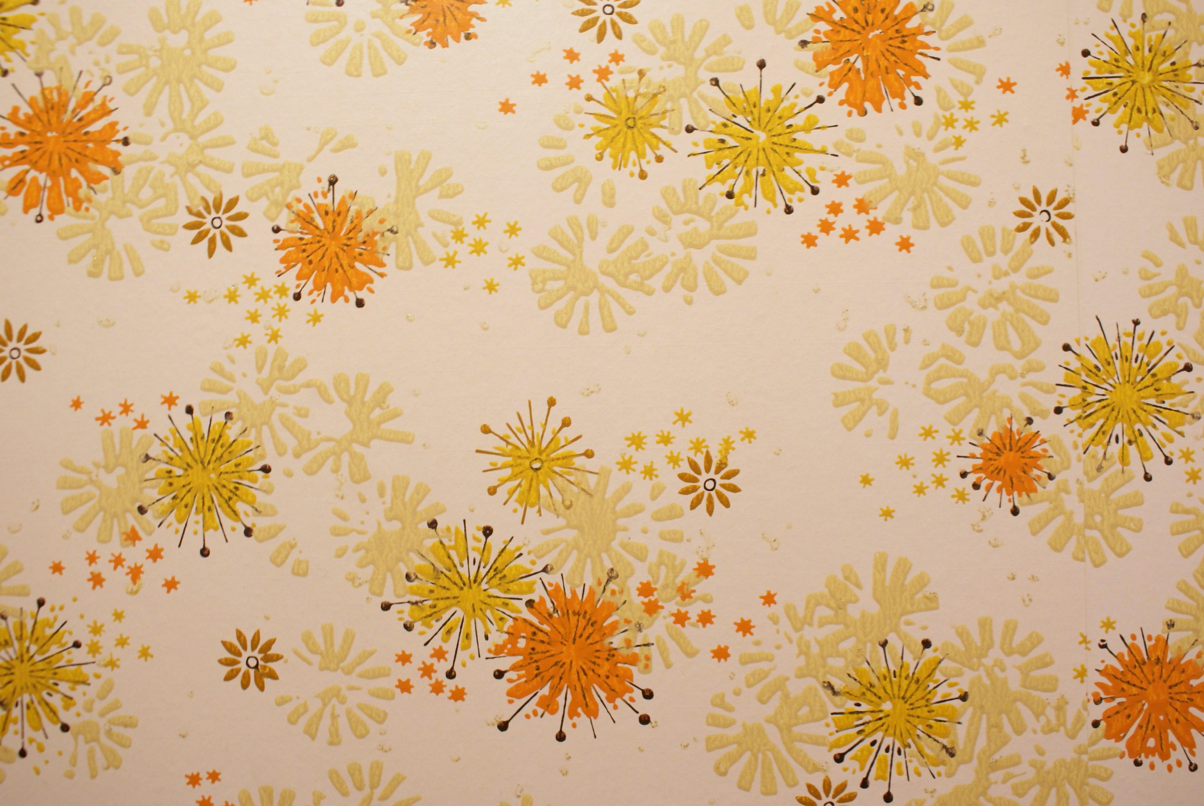 Vintage Wallpaper vintage orange wallpaper retro 70s 1970s yellow 3872x2592