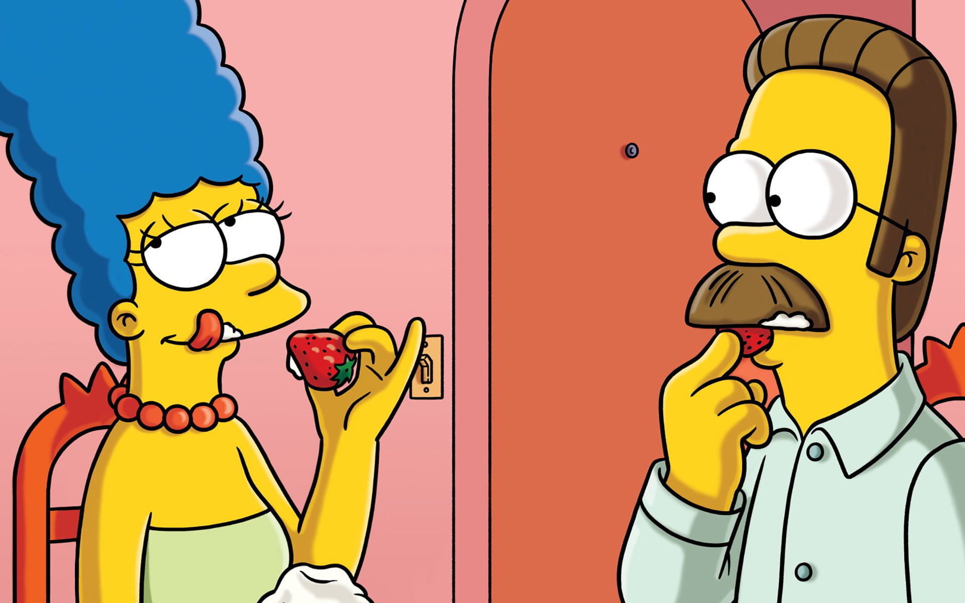 Homer and Margie Simpsons The Simpsons Marge Simpson Ned 1920x1200