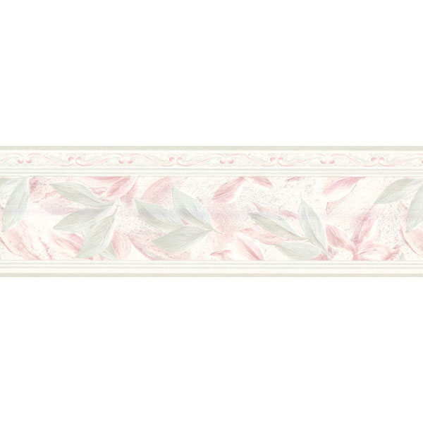 451 1716 Light Green Lily Scroll   Brewster Wallpaper Borders 600x600