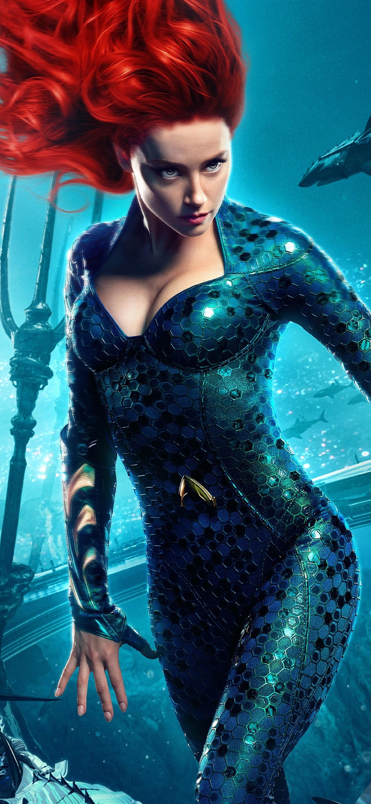 Amber Heard Mera Aquaman 2018 1242x2688 iPhone XS Max wallpaper 1242x2688