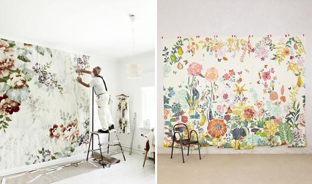 Anthropologie wallpaper wallpapersafari for Anthropologie wallpaper mural