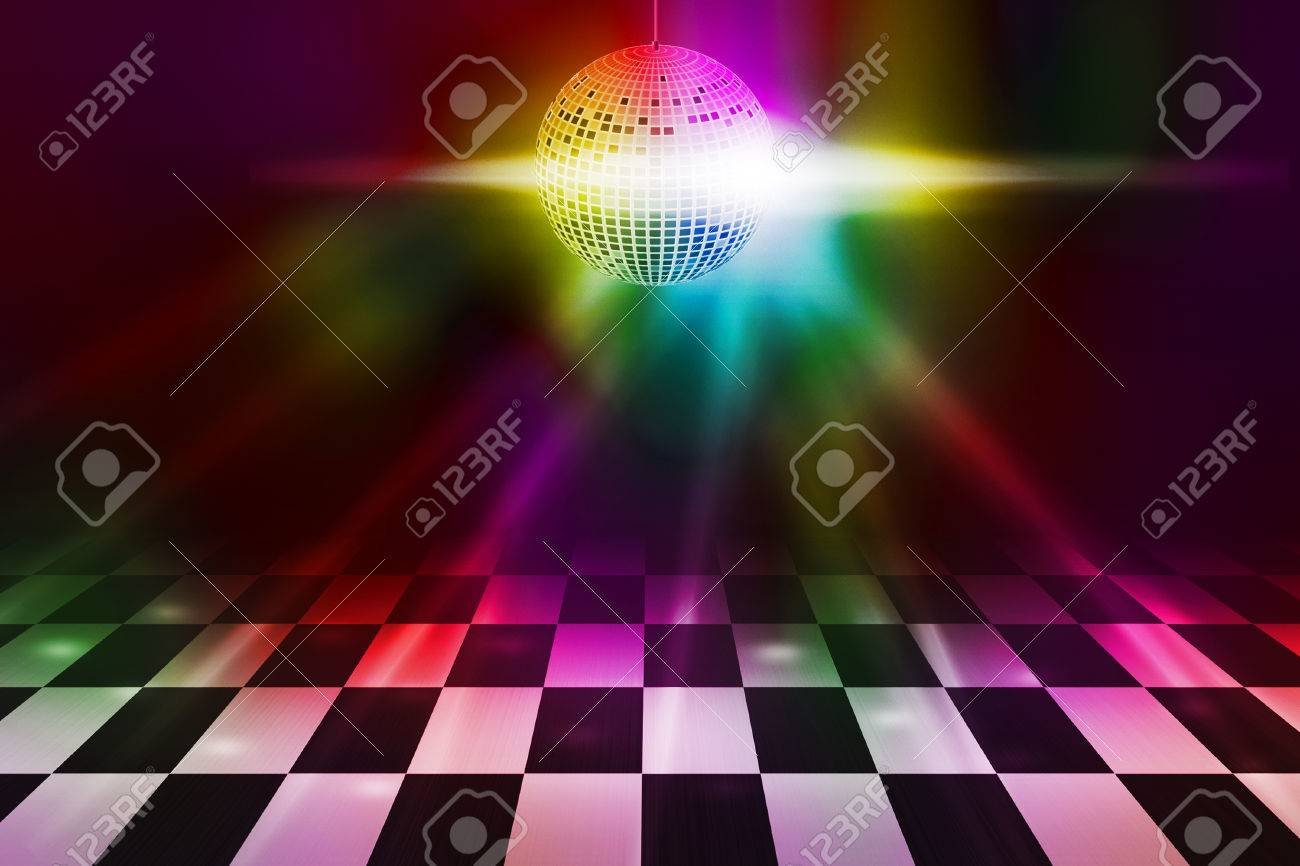 Disco Party Dance Floor Background Stock Photo Picture And 1300x866