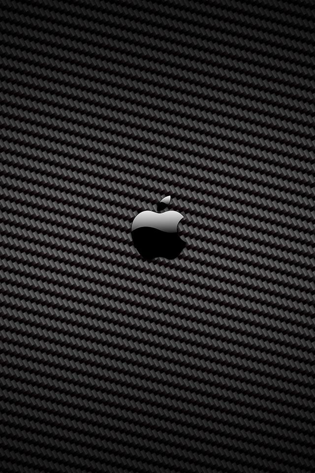 Carbon Fiber Apple   iPhone Wallpaper 640x960
