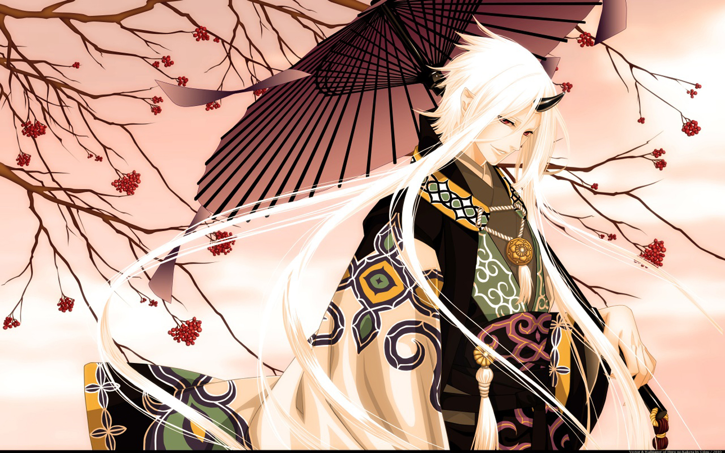 Kimono Horn Male Guy Anime HD Wallpaper Desktop PC Background 1898 1440x900