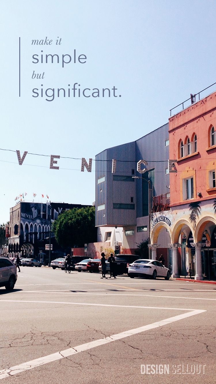 iPhone 6 Wallpaper Simple Significant Venice Beach Graphic 750x1334