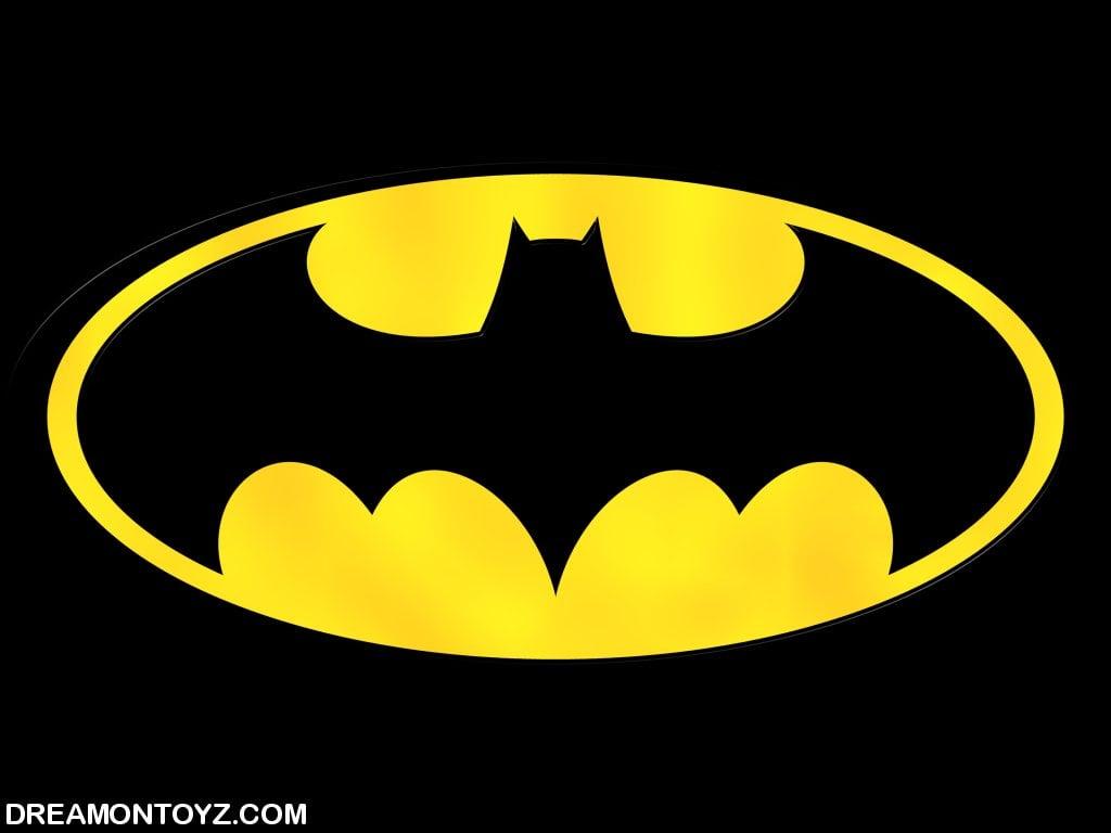 Batman logo wallpaper with black background 1024x768