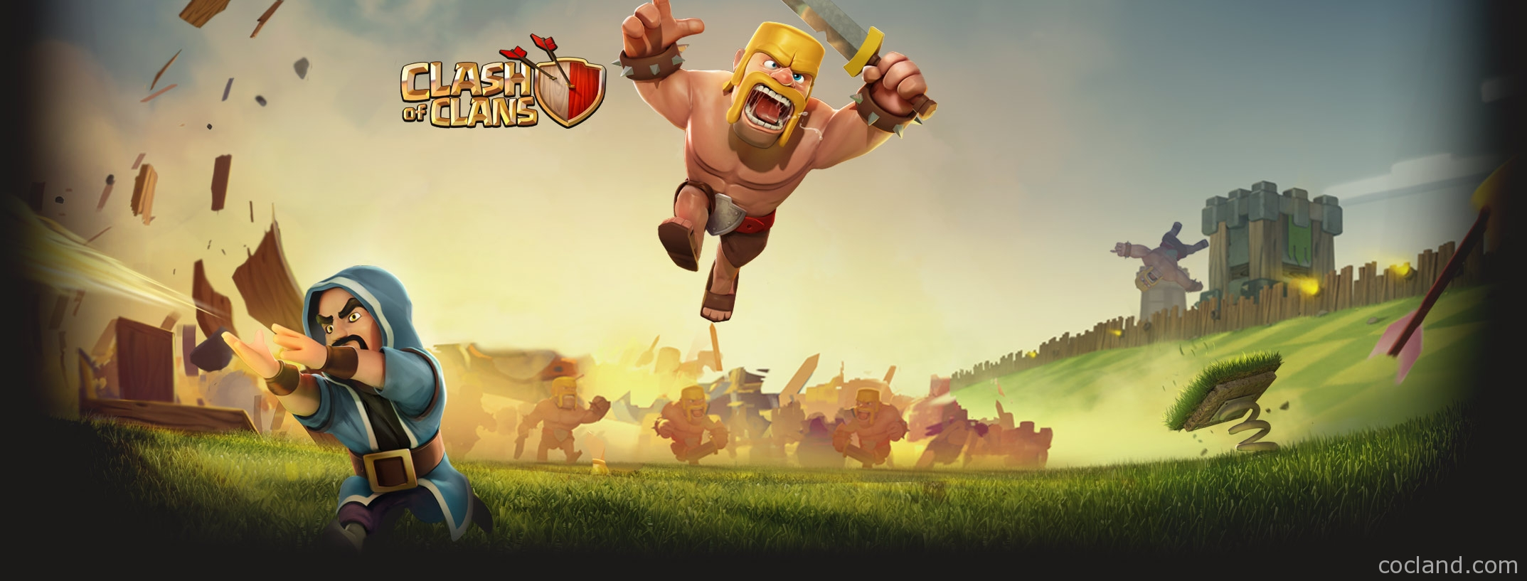 clash of clans wallpaper   Large Images 2147x817