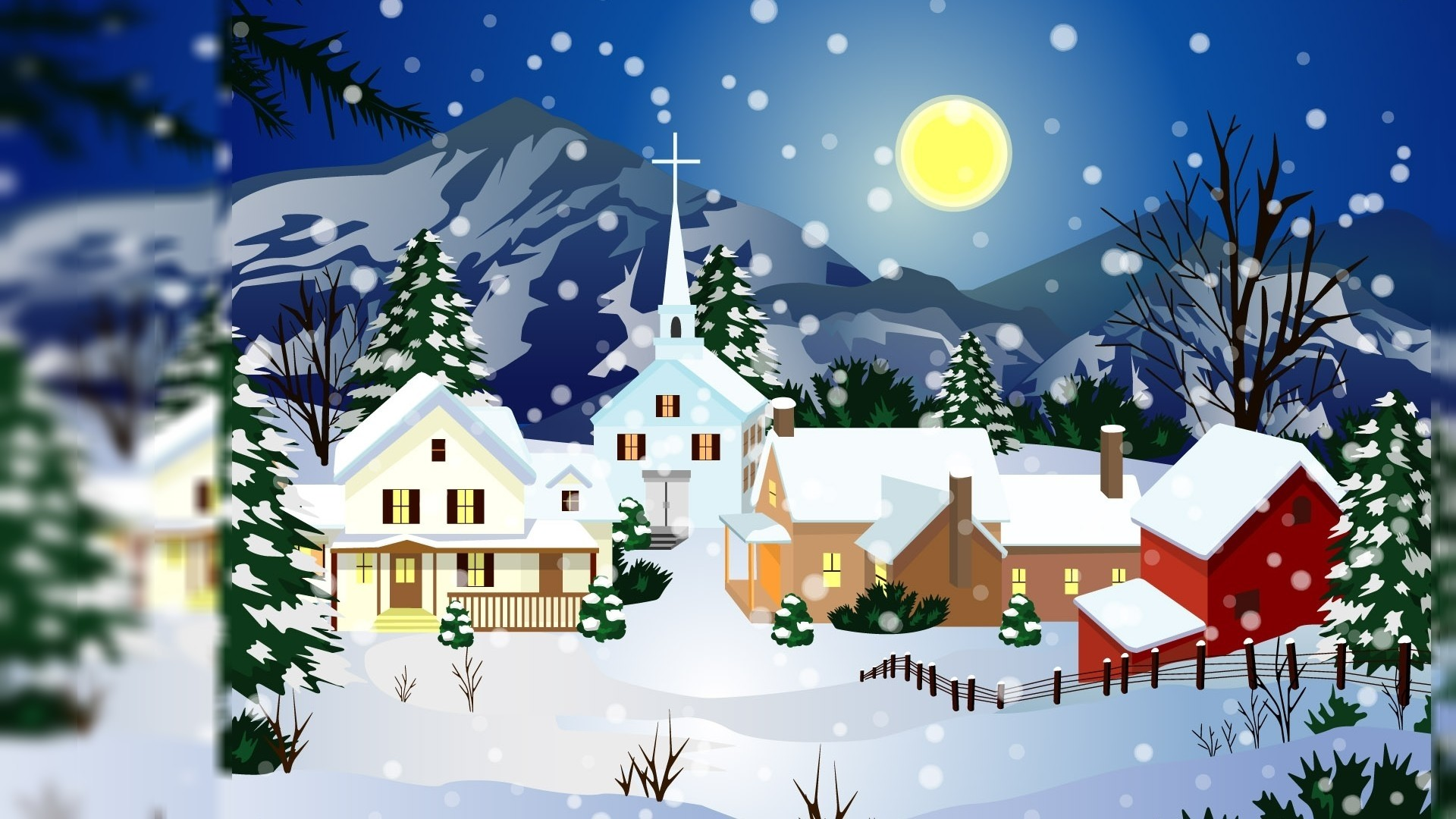 65 Christmas Cartoon Wallpapers on WallpaperPlay 1920x1080