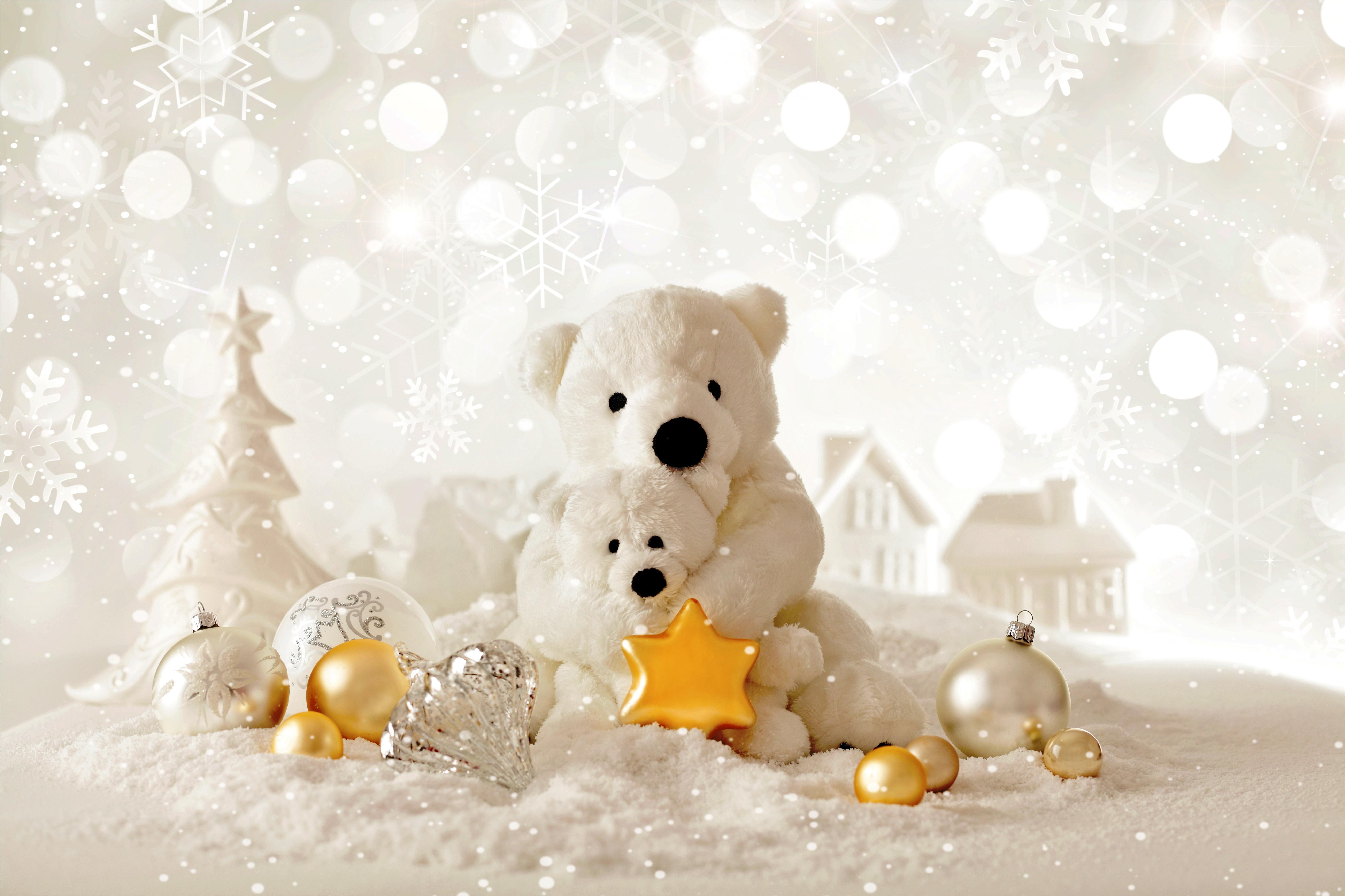 Wallpaper Christmas New Year Bear decorations Holidays 6550x4366