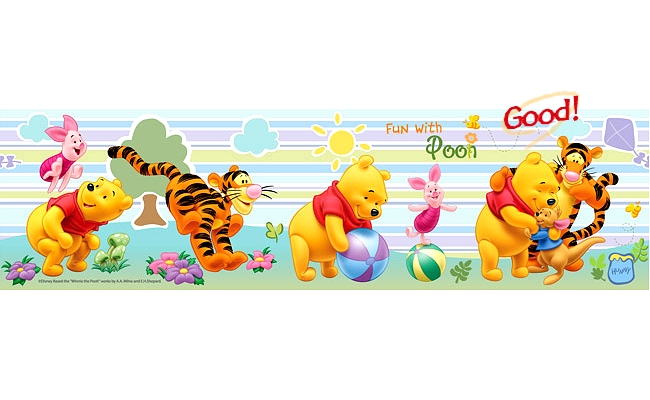 Details about The Pooh Wallpaper Border 650x400