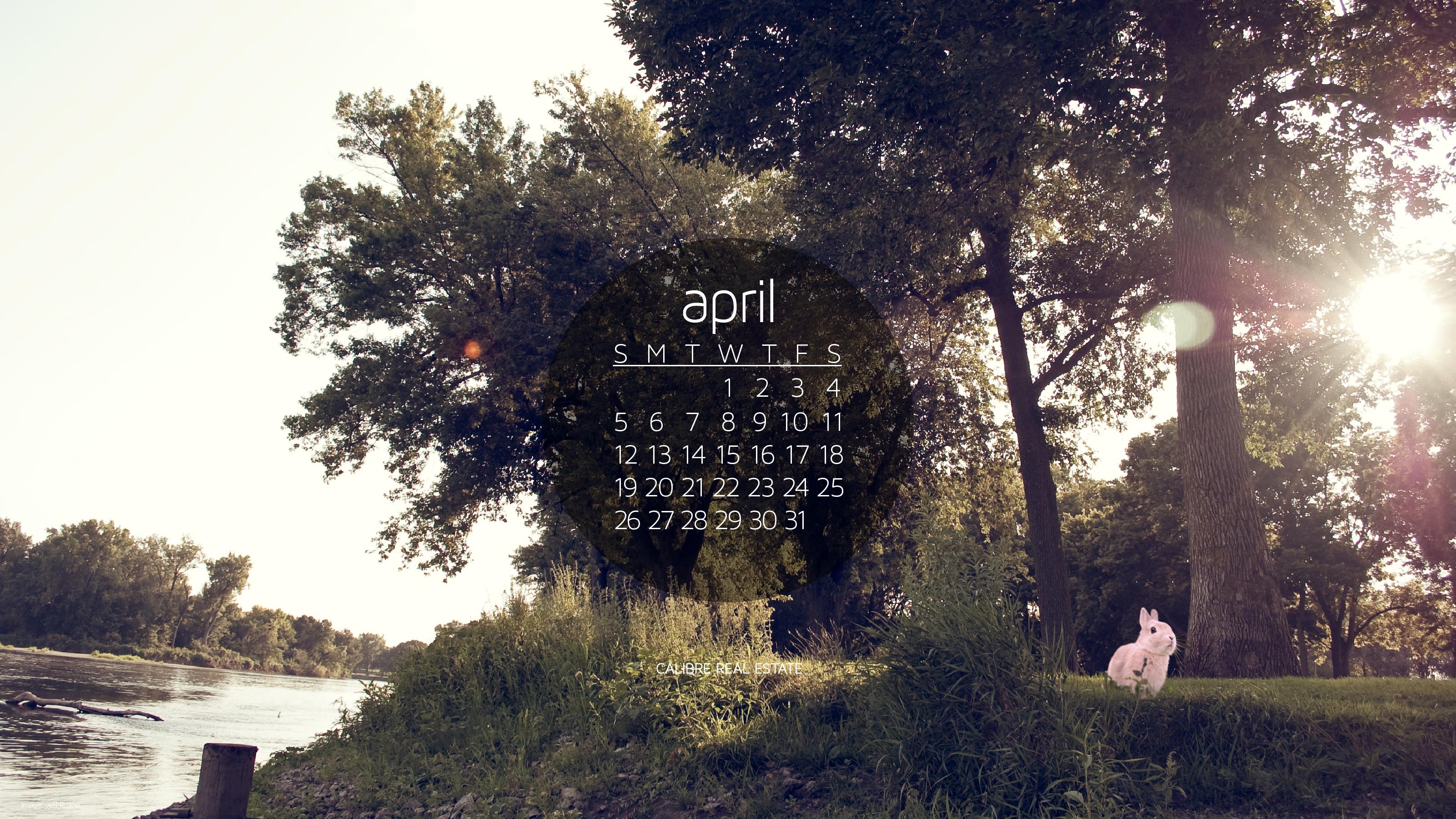 April 2015 Calendar Wallpaper Calibre 3201x1800