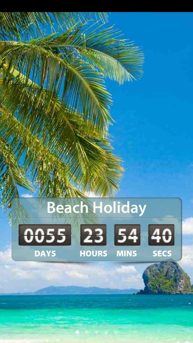 App Shopper Holiday and Vacation Countdown Widget   Digital Event 640x1136