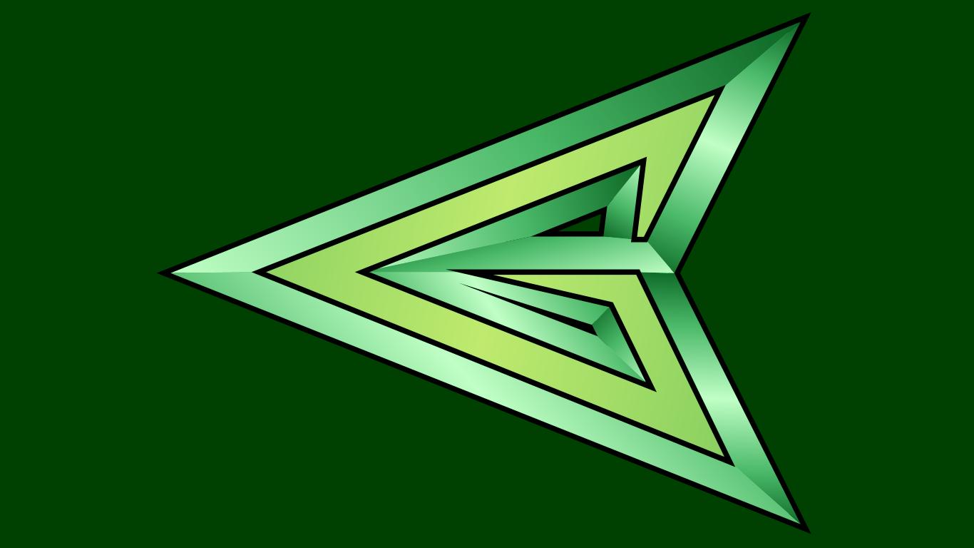 Green Arrow Arrowhead Symbol WP by MorganRLewis 1366x768