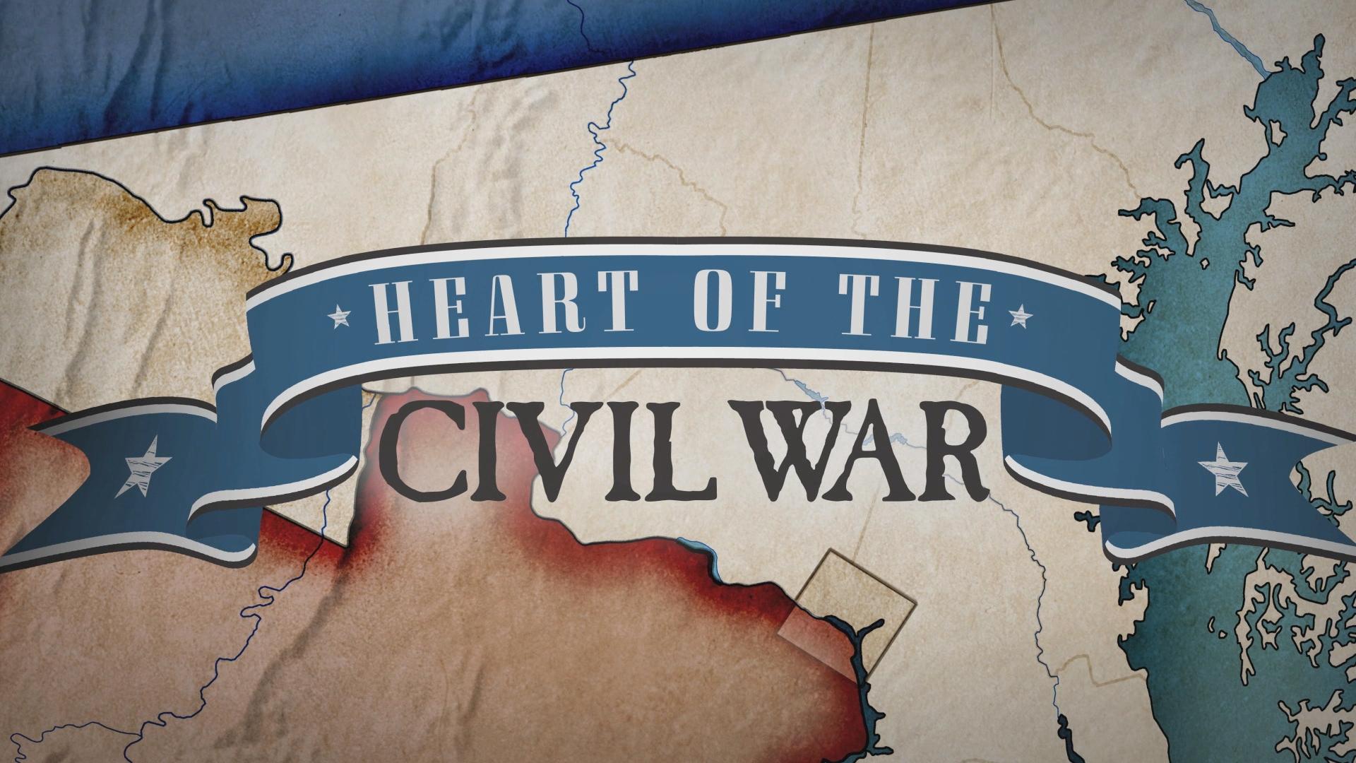 American Civil War Wallpaper Border Heart of the civil war logo 1920x1080