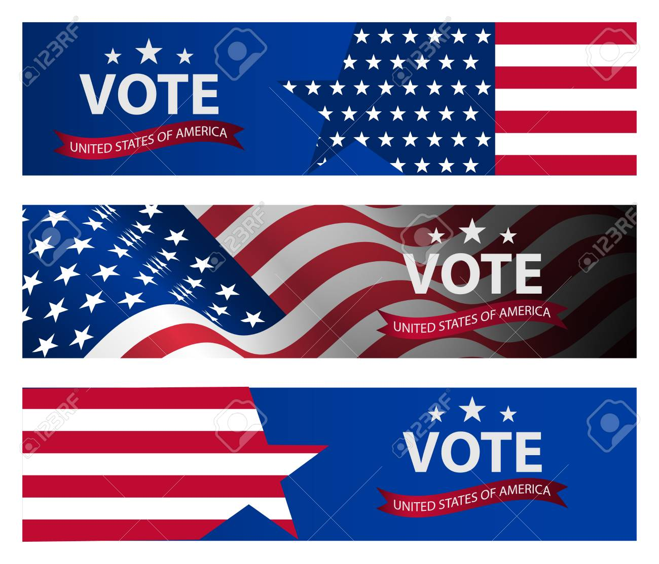 Presidential Election Banner Background US Presidential Election 1300x1114