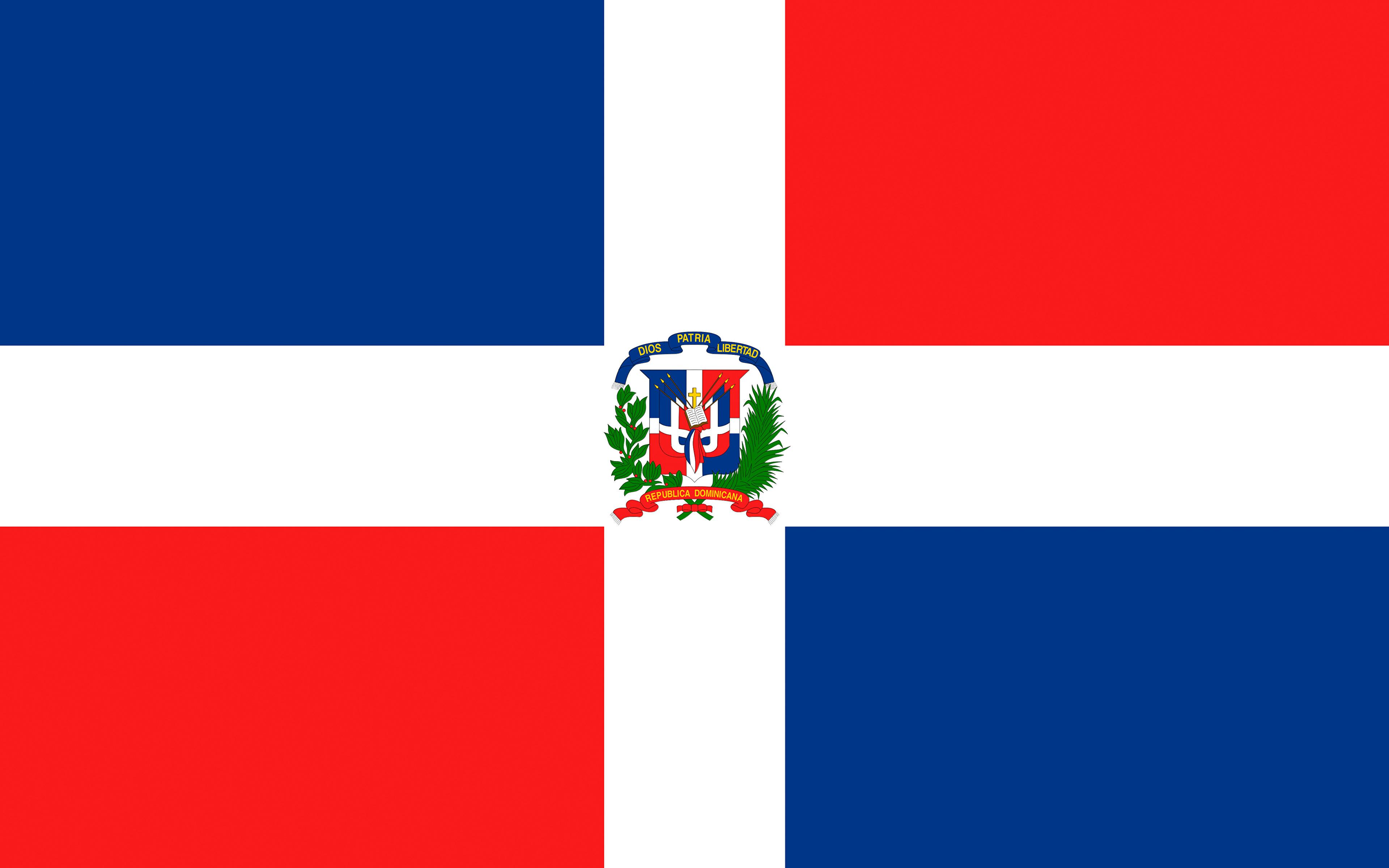 Wallpaper Dominican Republic Flag Cross 3840x2400 3840x2400