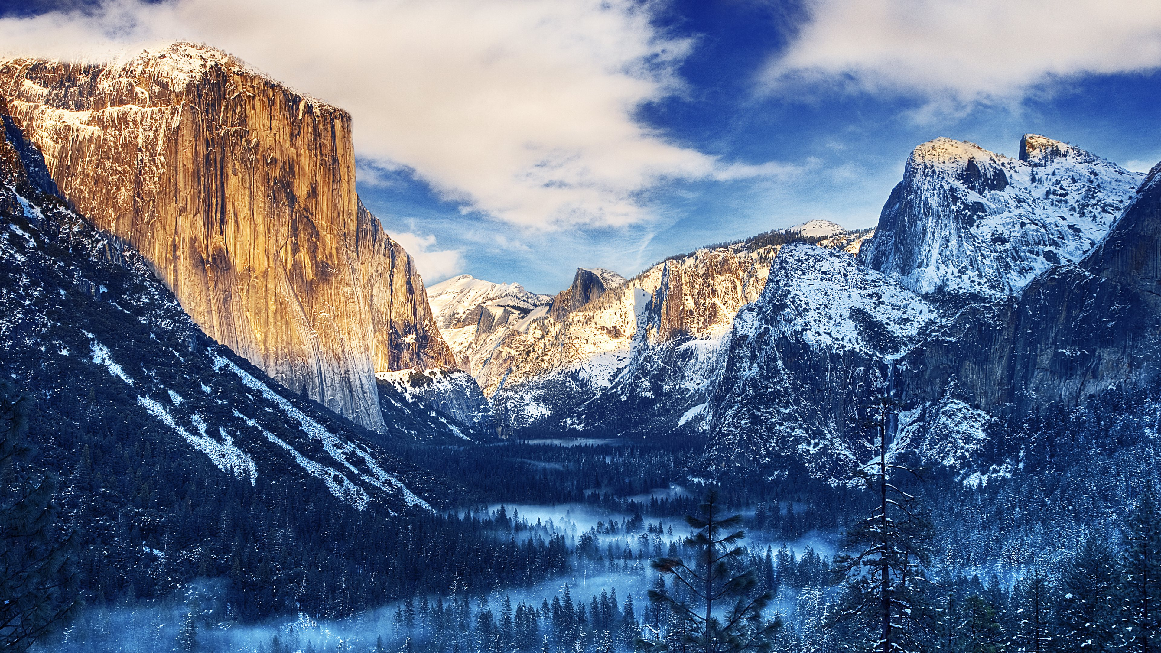 Winter Morning Sunrise   Tunnel View in Yosemite Valley Yosemite 3840x2160