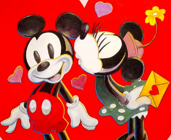 Disney wallpaper valentine 39 s day wallpapersafari - Cartoon valentine wallpaper ...