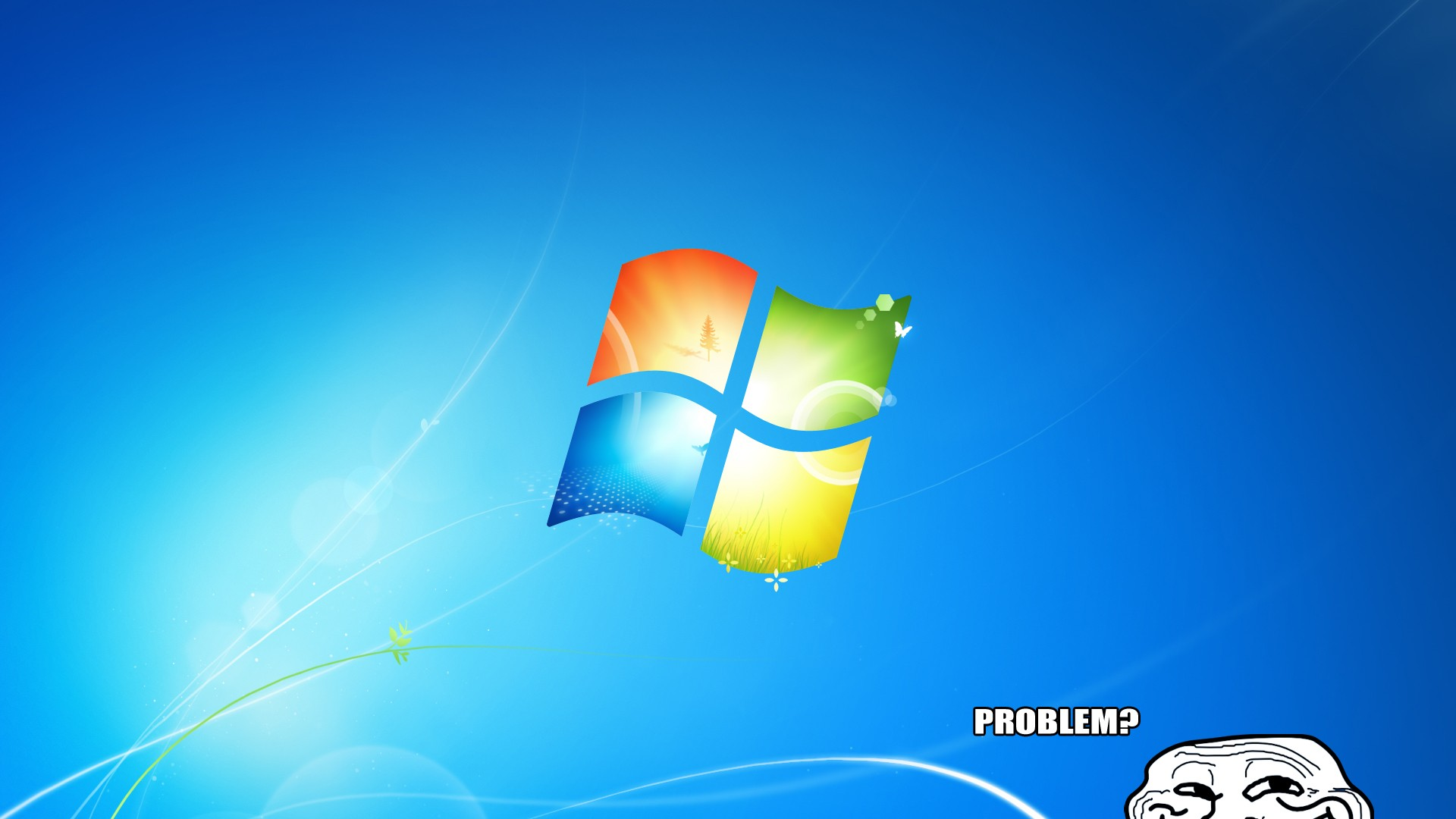 Windows 7 Wallpaper 1920x1080 Windows 7 Humor Funny Trolling 1920x1080