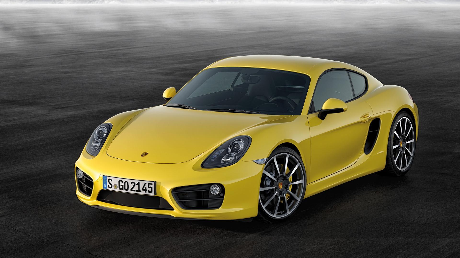 Yellow Porsche Cayman Full HD Desktop Wallpapers 1080p 1920x1080