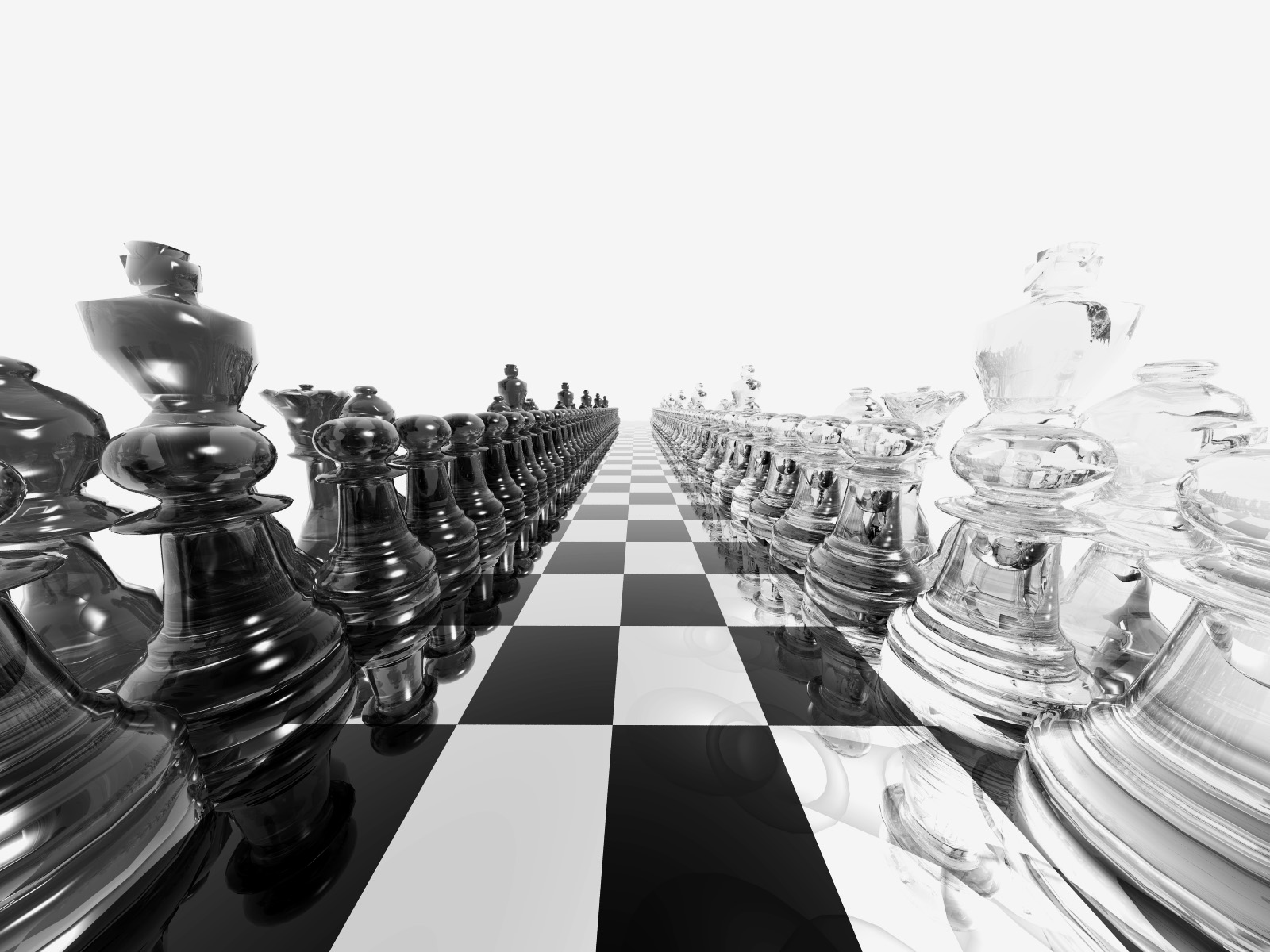 Black And White Chess 3D Wallpaper Image Wallpaper WallpaperLepi 1600x1200