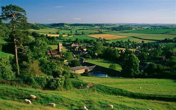 The rolling English countryside around the village of Corton Denham 620x388